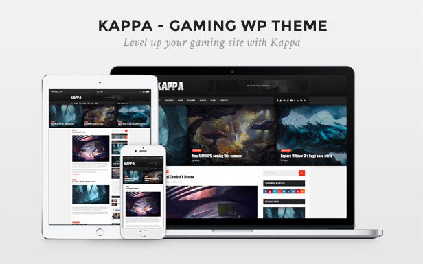 WordPress theme Kappa - A Gaming WordPress Theme (Blog / Magazine)